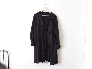 H&M Divided Trenchcoat Gr. 40 M schwarz lang