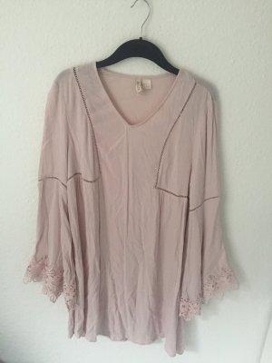 H&M Divided Tunika Kleid Rosa
