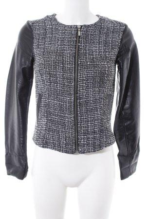 H&M Divided Übergangsjacke schwarz-weiß meliert klassischer Stil