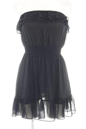H&M Divided Flounce Dress black casual look