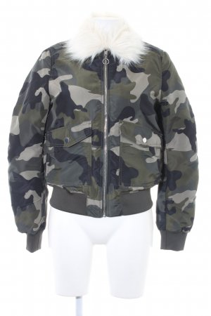 H&M Divided Winterjacke Camouflagemuster Casual-Look