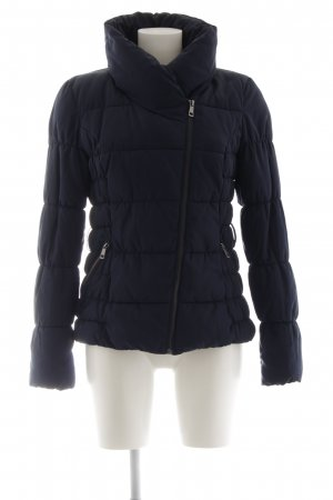 H&M Divided Winterjacke dunkelblau Steppmuster Casual-Look
