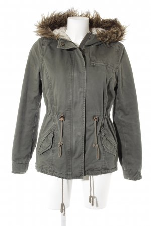 H&M Divided Winterjacke khaki-olivgrün Casual-Look