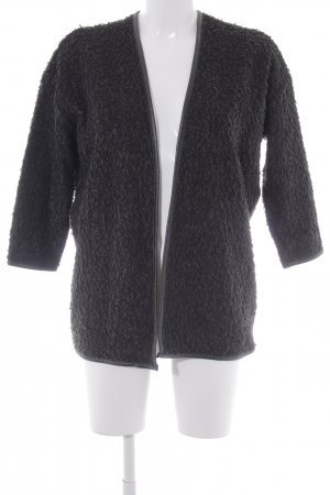 H&M Divided Wolljacke schwarz Casual-Look