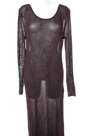 H&M Divided Vestito di lana marrone-viola stile semplice