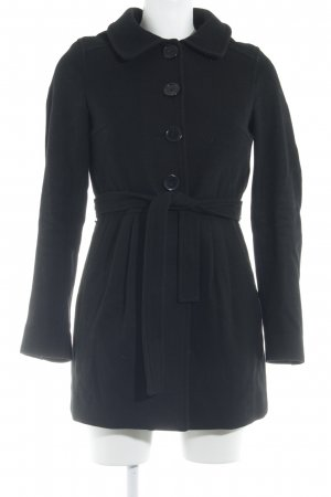 H&M Divided Wollmantel schwarz Casual-Look