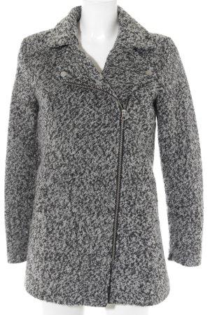 H&M Divided Wollmantel schwarz-wollweiß meliert Elegant