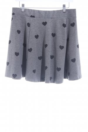 H&M Divided Wool Skirt grey-black Herzmuster casual look