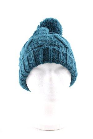 H&M Divided Zipfelmütze blau Zopfmuster Casual-Look