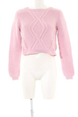 H&M Divided Pull torsadé rose style décontracté