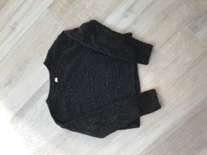 H & M Divides Pullover schwarz mit Glitzer