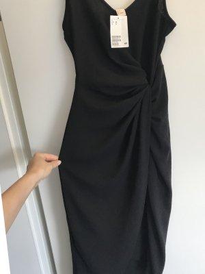 H&M drapiertes wickelKleid  38