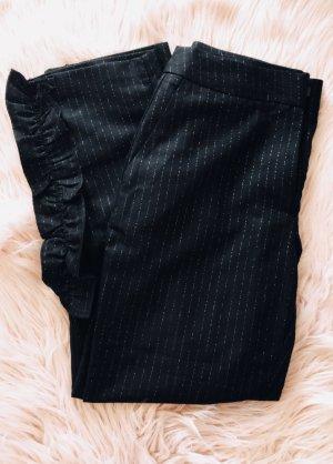 H&M Pantalon 3/4 bleu foncé polyester
