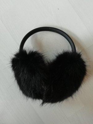 H&M Earmuffs Ohrenschützer Ohrenwärmer Fake Fur Schwarz