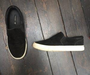 H&M echt Wildleder Slipper Slip-ons Schuhe Sneakers Leder Blogger 36