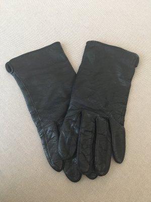 H&M Echtleder Handschuhe schwarz Gr. M