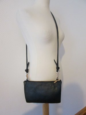 H&M Echtleder Handtasche Premium Collection schwarz/gold