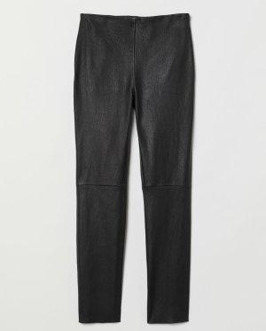 H&M Premium Pantalón de cuero negro