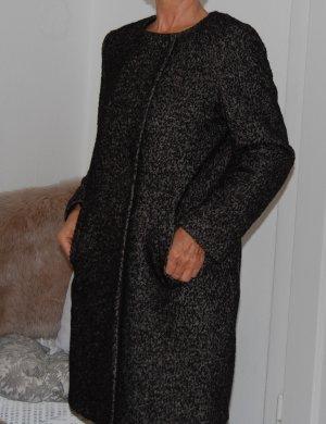 H&M eleganter Kurzmantel schwarz weiss 42