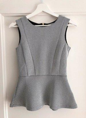 H&M Elegantes Top schwarz/weiß gemustert, Gr. XS