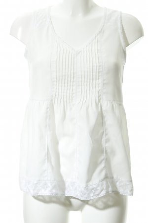 H&M Empire Waist Top natural white romantic style