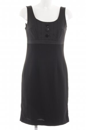 H&M Empirekleid schwarz Business-Look