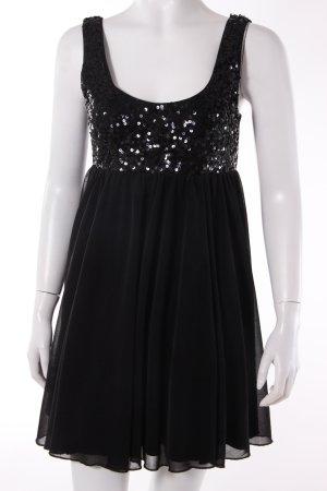 H&M Empirekleid schwarz mit Pailletten