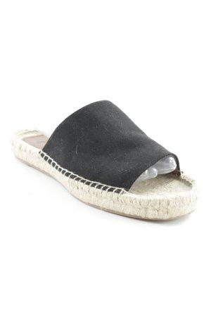 H&M Espadrillas nero-beige stile spiaggia