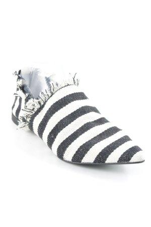 H&M Espadrilles-Sandalen schwarz-wollweiß Streifenmuster schlichter Stil