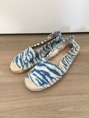 H&M Espadrilles Slipper Sandalen Halbschuh blau beige Stroh Gr. 38