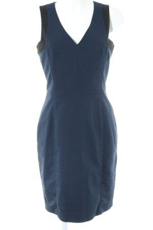 H&M Etuikleid blau-schwarz Business-Look