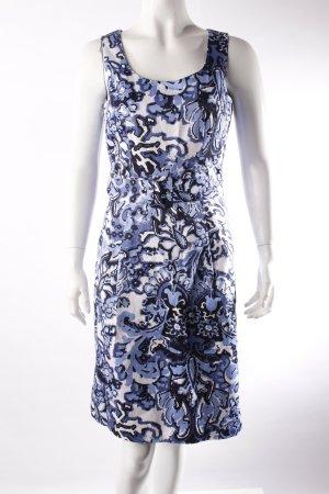 H&M Etuikleid blau-weiß gemustert