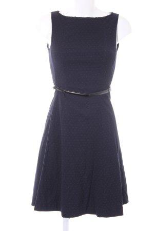 H&M Etuikleid dunkelblau-weiß Punktemuster schlichter Stil