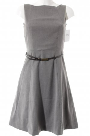 H&M Etuikleid grau-dunkelbraun Business-Look