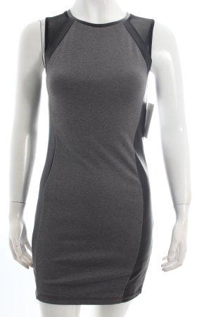 H&M Etuikleid grau-schwarz