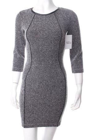 H&M Etuikleid grau-schwarz meliert klassischer Stil