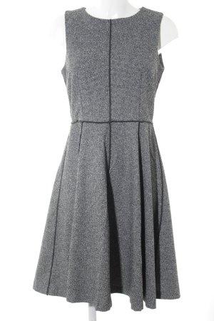 H&M Etuikleid schwarz-grau meliert Business-Look