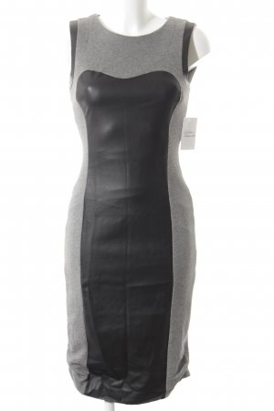 H&M Etuikleid schwarz-hellgrau Casual-Look
