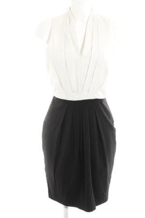 H&M Etuikleid schwarz-weiß Business-Look