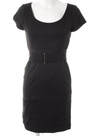 H&M Etuikleid schwarz-weiß Nadelstreifen Elegant