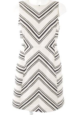 H&M Etuikleid wollweiß-schwarz Streifenmuster extravaganter Stil