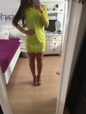 H&M exklusive Kleid Spitze neon 34 neu mit Etikett Silvester