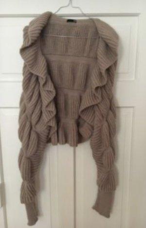 H&M extravagante Strickjacke Rüschen