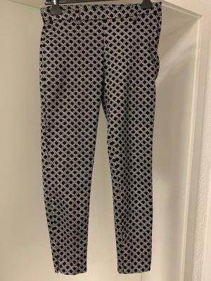 H&M Pantalón de tubo negro-blanco
