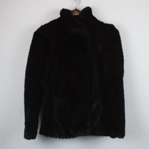 H&M Fake Fur Mantel Gr. 34 schwarz (18/9/007)