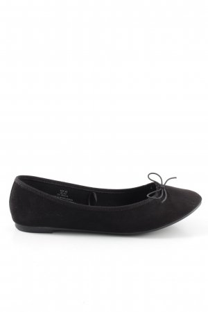 59d82d258ac9a H&M faltbare Ballerinas schwarz Casual-Look