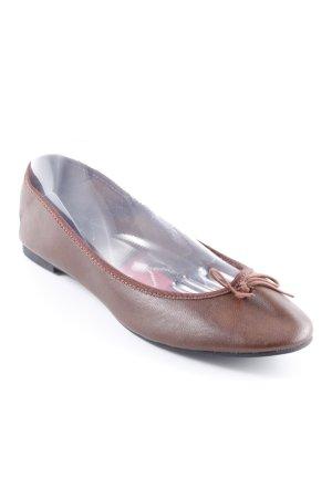 H&M faltbare Ballerinas braun schlichter Stil