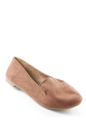 H&M faltbare Ballerinas cognac schlichter Stil