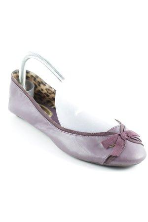 H&M Foldable Ballet Flats purple Bow detail