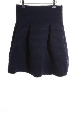 H&M Faltenrock blau Casual-Look